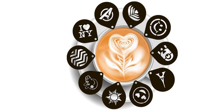 Набори трафаретів для кави